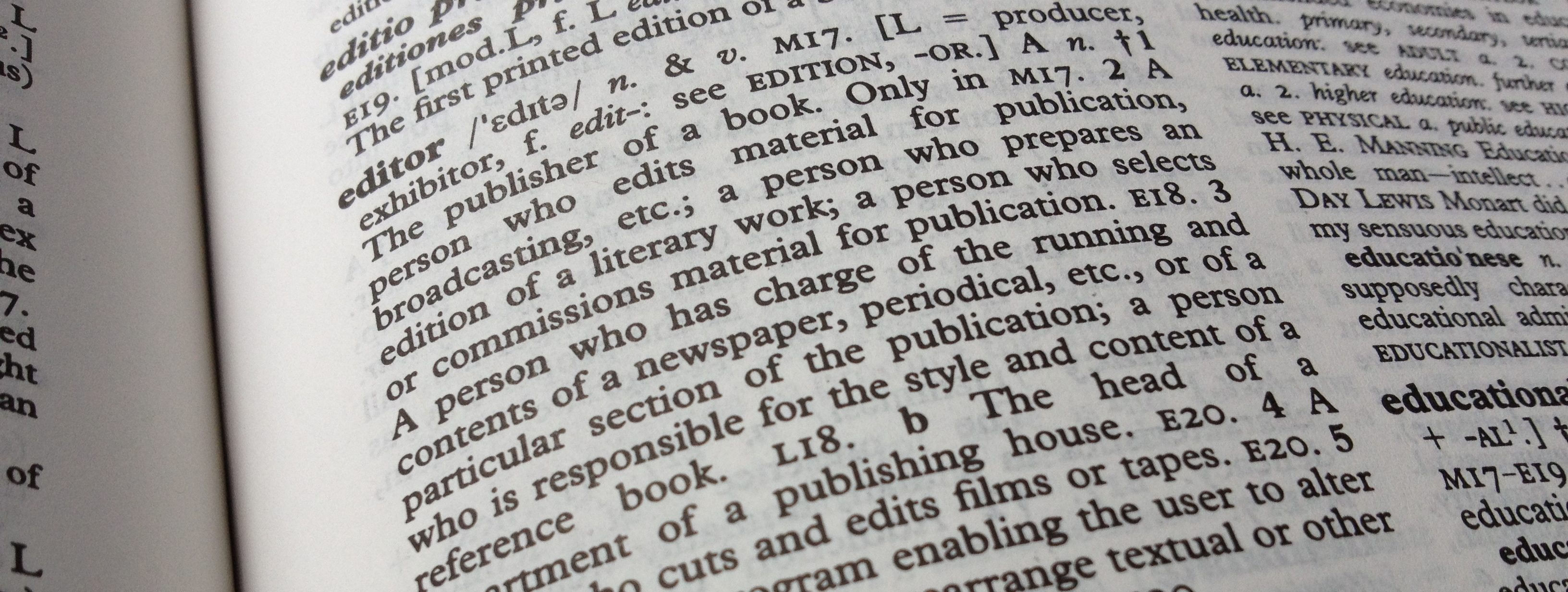 Editor definition